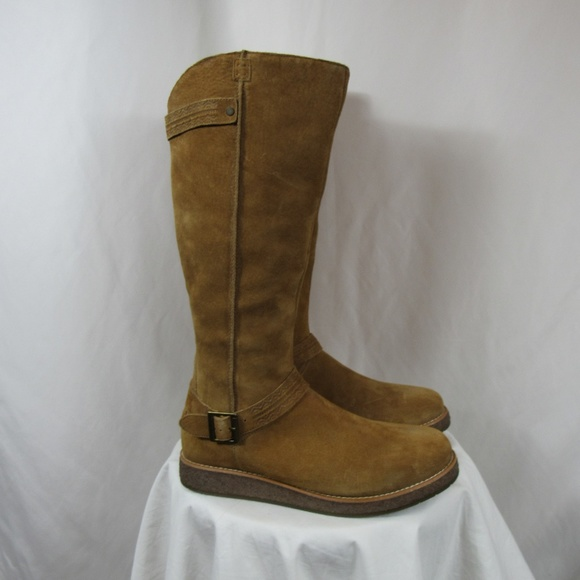 4a239d0260 UGG Gellar Suede Chestnut Tall Zip Boots 8.5 NEW